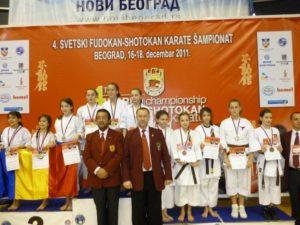 IV Чемпионат Мира по традиционному каратэ-до Фудокан. Сербия 2011 год