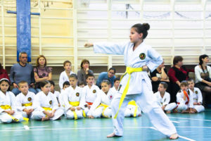 Турнир Будо-Академии по традиционному каратэ среди жёлтых и оранжевых поясов.